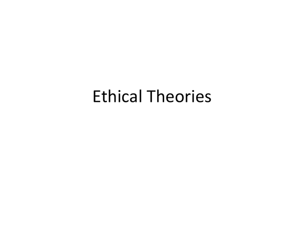 Preview of Ethical theories