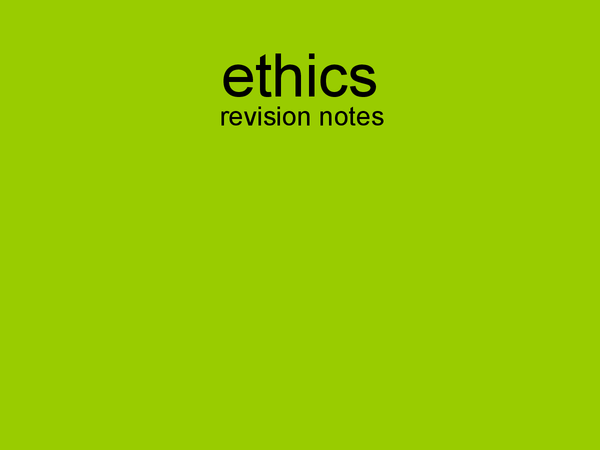 Preview of Ethics Presentation