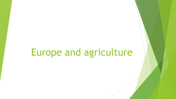 Preview of Europe and Agriculture.