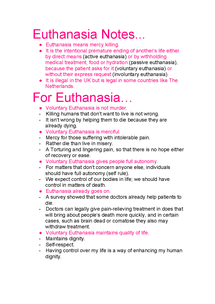 Preview of Euthanasia Notes.