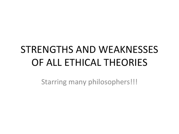 Preview of Evaluating AS Religious Studies OCR Ethical theories (EDIT)