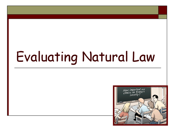 Preview of evaluating natural law