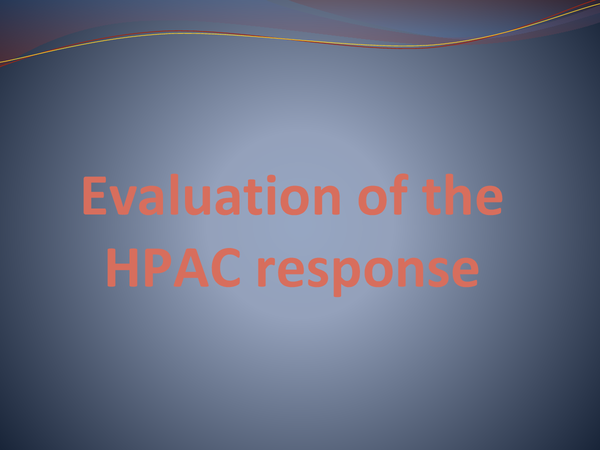 Preview of Evaluation of the HPAC