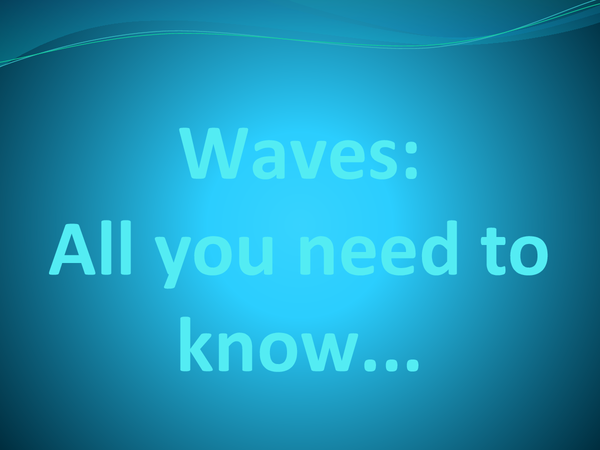 Preview of Everything about waves