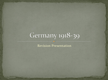 Preview of Everything you need to know about Germany 1918-39!
