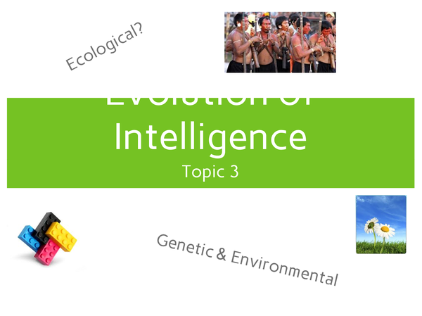 Preview of Evolution of Intelligence - topic 3