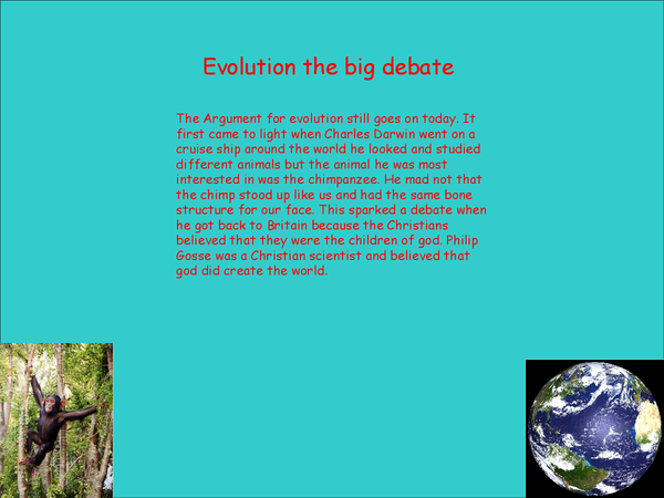 Preview of Evolution powerpoint