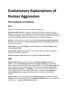Preview of Evolutionary Explanations of Human Agression