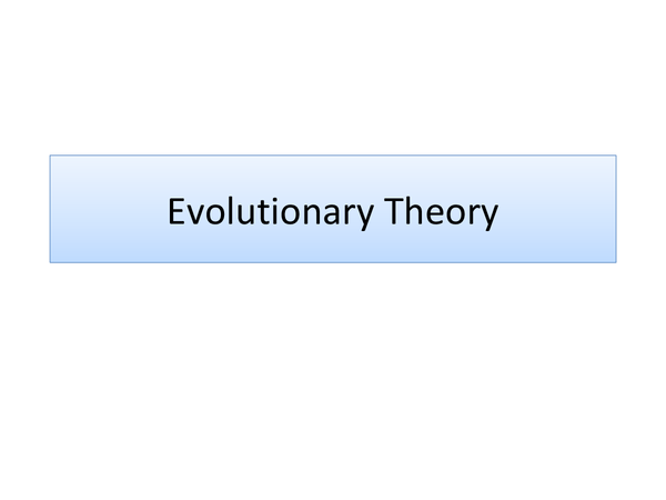 Preview of Evolutionary Theory of Sleep