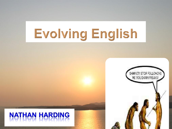Preview of Evolving English
