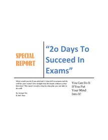 Preview of Exam success tips