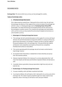 Preview of Exchange Rates - Edexcel Unit 4
