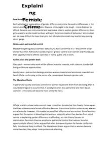 Preview of Explaining Female Crime Summary Sheet