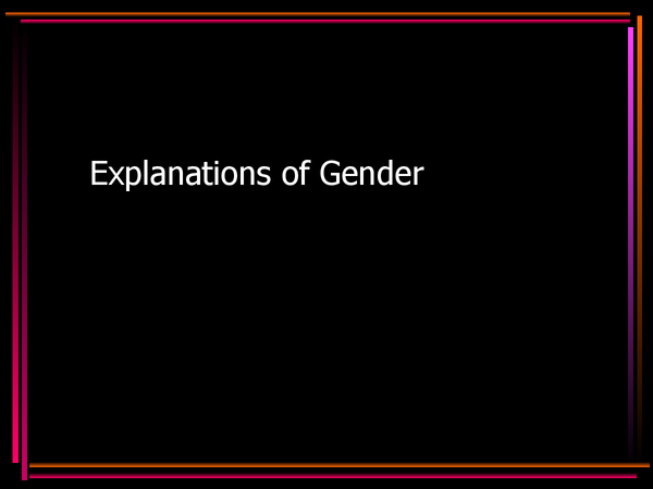 Preview of Explanations of gender