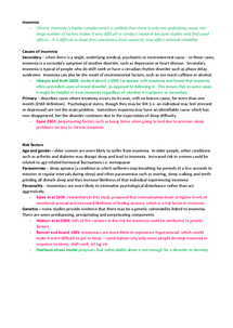 Preview of Explanations of Insomnia - Psychology A Unit 3 A2 Edexcel