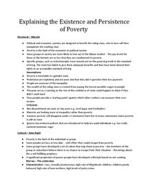 Preview of Explanations of poverty