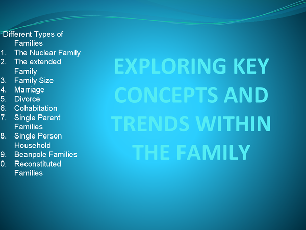 Preview of EXPLORING KEY CONCEPT AND TRENDS WITHIN THE FAMILY