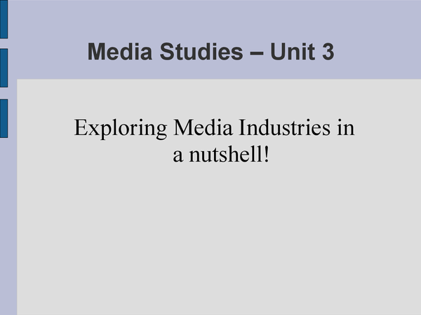 Preview of 'Exploring Media Industries' in a Nutshell