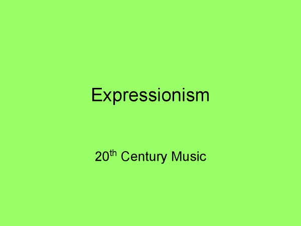 Preview of expressionism music (Peripetie)