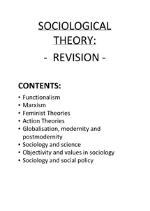Preview of Extensive notes on Sociological theory