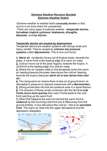 Preview of Extreme Weather Complete Revision Guide (with case studies)