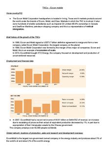 Preview of Exxon Mobil case study-TNCs