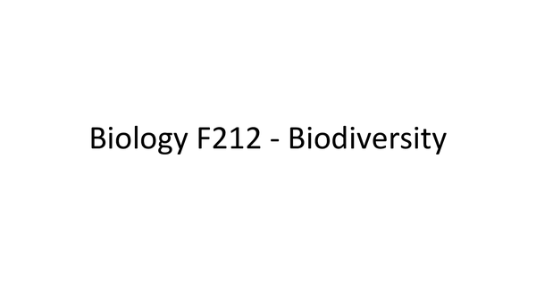 Preview of F212 - Biodiversity