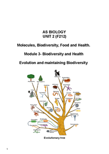 Preview of F212 - Evolution & Biodiversity
