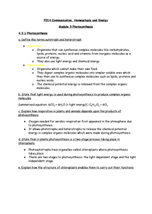 Preview of F214 OCR A2 Biology Module 3 Photosynthesis