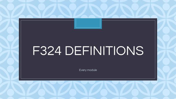 Preview of F324 Definitions