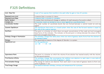 Preview of F325 Definitions