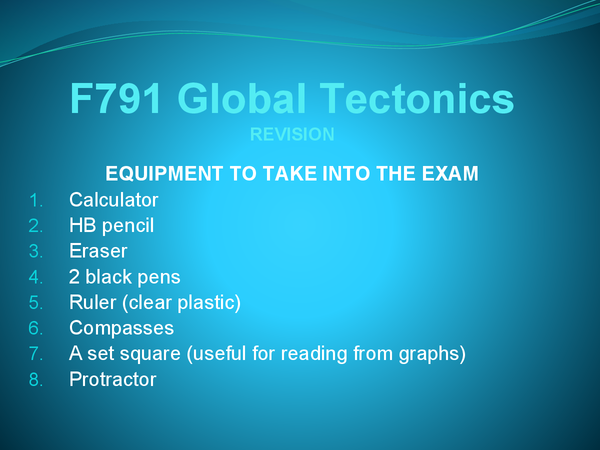 Preview of F791 Unit 1 revision