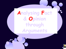 Preview of fact and opinion