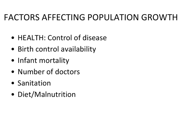 Preview of Factors that affect populations - AQA AS Geography