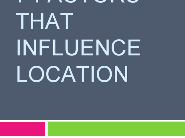 Preview of Factors that Influence Location