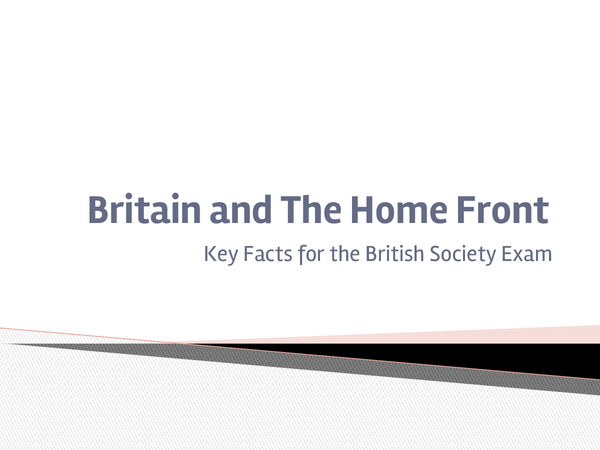 Preview of Facts for Britain and the Home Front