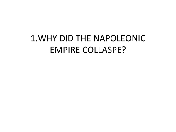 Preview of FALL OF NAPOLEON BY C.BRISCOE