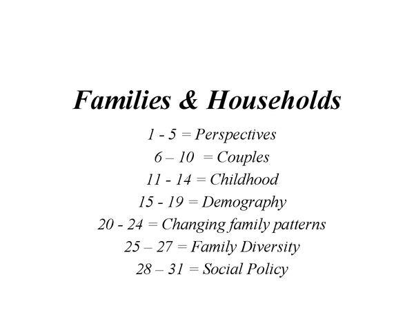 Preview of Families & Households