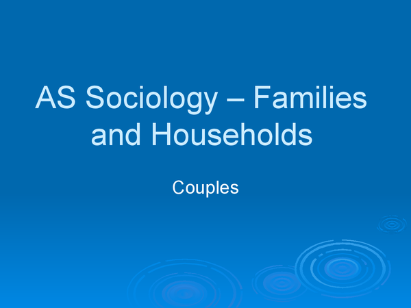 Preview of Family and Households