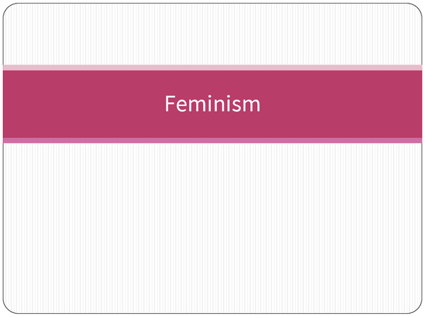 Preview of Feminism Notes