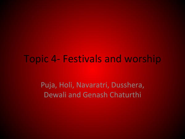 Preview of Festivals- Hinduism
