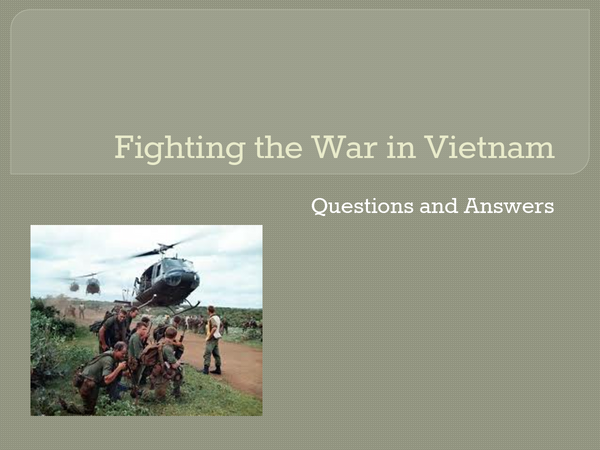 Preview of Fighting the War in Vietnam