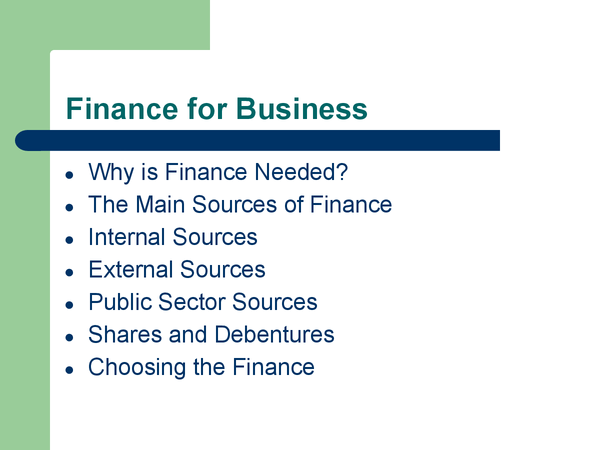 Preview of Finance for Business