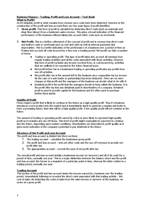 Preview of Finance Notes - Profit And Loss Accounts