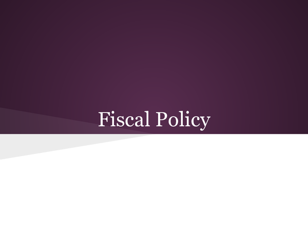 Preview of Fiscal Policy
