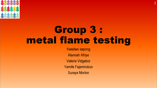 Preview of flame test