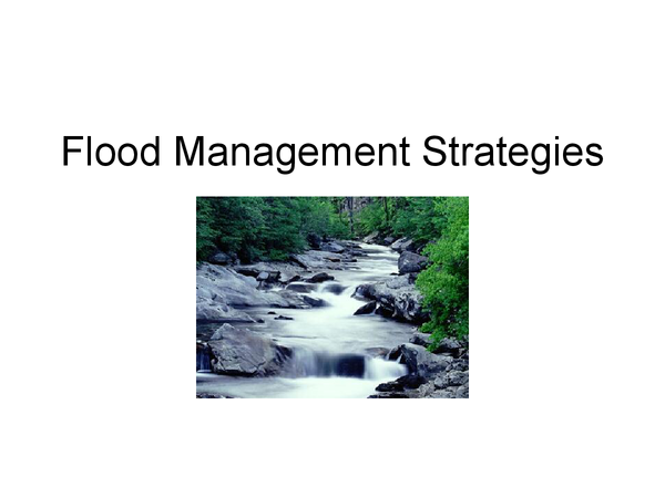 Preview of Flood management strategies - prediction, channelisation, naturalisation and restoration