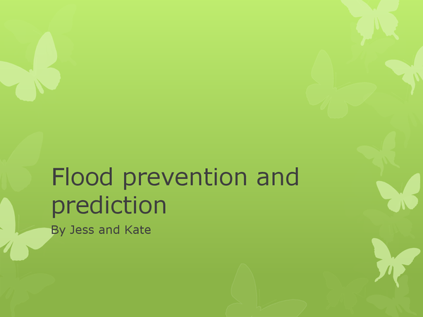 Preview of flood prevention and prediction