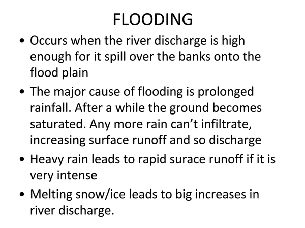 Preview of Flooding - AQA AS Geography