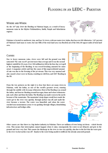Preview of Flooding in an LEDC - Pakistan